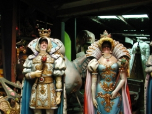 Joe and Carol at Mardi Gras World
