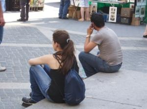 Sitting at Columbus Circle