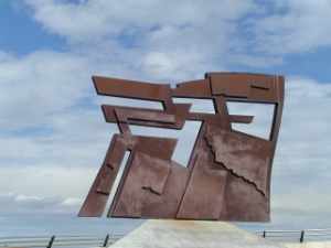 Sculpture in Gijon, Espana