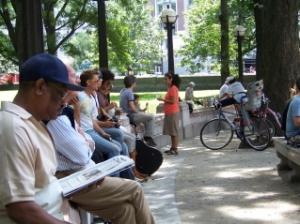 Columbus Circle Crowd