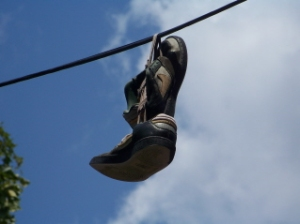Sneakers on a Telephone Wire